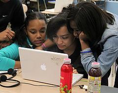 Students at John Jay High School edit their anti-gun violence Public Service Announcements.