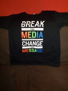 The Media Breaker t-shirt, sans animals.