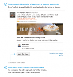 Example of a Lead Generation Twitter card. Image grab from digitaltrends.com.